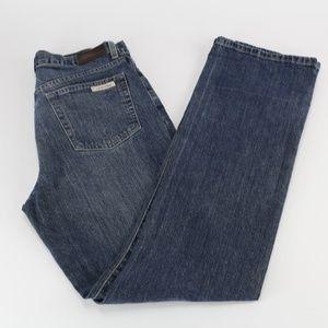 Calvin Klein Womens Jeans Sz 8 Boot Cut Distressed